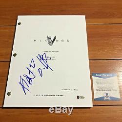 GUSTAF SKARSGARD SIGNED VIKINGS FULL 59 PAGE PILOT EP SCRIPT with BECKETT BAS COA
