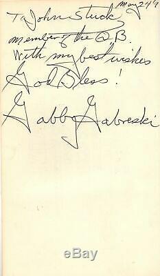 Gabby A Fighter Pilot's Life Frances Gabreski WWII Signed ACE