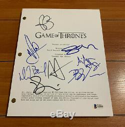 Game Of Thrones Signed Pilot Script By 8 Cast Emilia Clarke Sophie Turner Coa