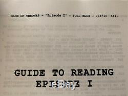 Game of Thrones Pilot Script Signed by Creators & Cast