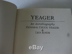 General Chuck Yeager Book Signed Test Pilot USAF Hardcover Dust Jacket 1985