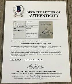 George R. R. Martin Benioff & Weiss Signed Game Of Thrones Pilot Script & Bas Coa