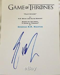 George R. R. Martin Signed Autograph Game Of Thrones Pilot Episode Script Coa