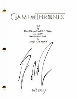 George R R Martin Signed Autograph Game Of Thrones Pilot Script Very Rare