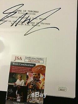 George R. R. Martin Signed Autograph Game of Thrones Pilot Episode Script JSA COA