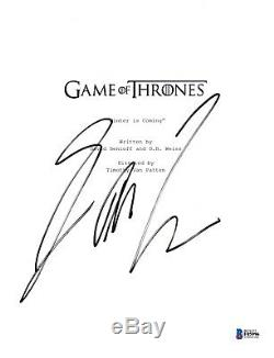 George Rr Martin Signed Game Of Thrones Pilot Script Beckett Bas Autograph Auto
