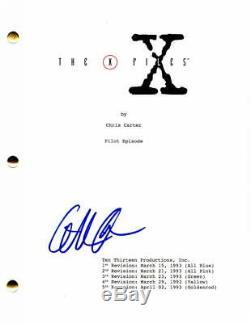 Gillian Anderson Signed Autograph The X-files Pilot Script David Duchovny