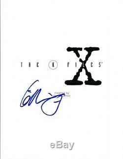 Gillian Anderson Signed Autographed THE X-FILES Pilot Episode Script COA