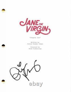 Gina Rodriguez Signed Autograph Jane The Virgin Pilot Script Carmen Sandiego