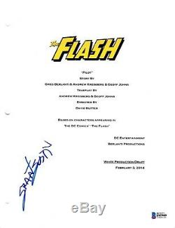 Grant Gustin Signed Flash Pilot Episode Script Beckett Bas Autograph Auto Coa