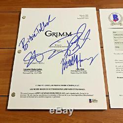 Grimm Signed Full Pilot Script By 4 Cast David Giuntoli Sasha Roiz Beckett Bas