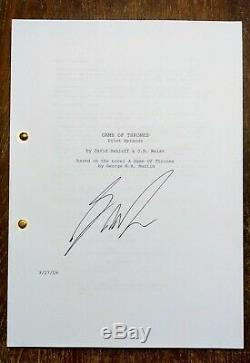 HAND SIGNED George R. R. Martin, A Game Of Thrones, TV Pilot Episode, Script