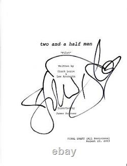 HOLLAND TAYLOR SIGNED'TWO AND A HALF MEN' PILOT EPISODE SCRIPT withCOA ACTRESS