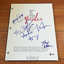 HOW TO GET AWAY WITH MURDER SIGNED FULL 64 PAGE PILOT SCRIPT with BECKETT BAS COA