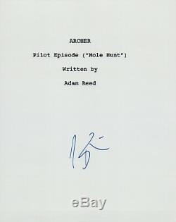 H. Jon Benjamin Signed Autograph ARCHER Pilot Episode Script Mole Hunt COA VD