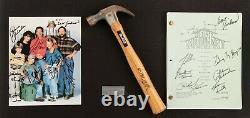 Home Improvement cast signed pilot episode script photo hammer signed Tim Allen