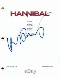 Hugh Dancy Signed Autograph Hannibal Full Pilot Script Mads Mikkelsen