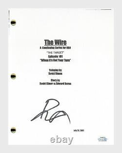 Idris Elba Signed Autographed The Wire Pilot Episode Script Screenplay ACOA COA