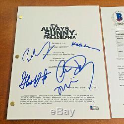 It's Always Sunny In Philadelphia Signed Pilot Script By 5 Cast Beckett Bas Coa