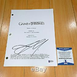 JASON MOMOA SIGNED GAME OF THRONES FULL 61 PAGE PILOT SCRIPT with BECKETT BAS COA