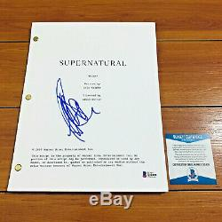 JEFFREY DEAN MORGAN SIGNED SUPERNATURAL FULL PILOT SCRIPT with BECKETT BAS COA