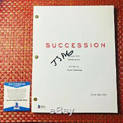 JEREMY STRONG SIGNED SUCCESSION FULL 73 PAGE PILOT SCRIPT with BECKETT BAS COA