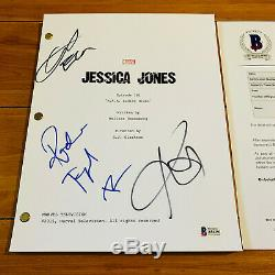 JESSICA JONES SIGNED FULL 55 PAGE PILOT SCRIPT BY 3 CAST KRYSTEN RITTER with COA