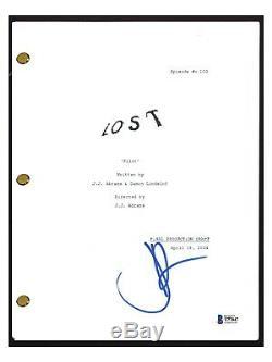 JJ Abrams Signed Autograph LOST Pilot Episode Script Screenplay Beckett BAS COA