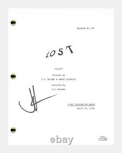 JJ Abrams Signed Autographed LOST Pilot Episode Script Screenplay ACOA COA