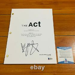 JOEY KING SIGNED THE ACT FULL PAGE PILOT EPISODE SCRIPT with BECKETT BAS COA