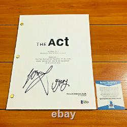 JOEY KING SIGNED THE ACT FULL PAGE PILOT SCRIPT with CHARACTER NAME & BECKETT COA