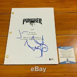 JON BERNTHAL & BEN BARNES SIGNED PUNISHER PILOT COVER SCRIPT with TRANSCRIPT COA