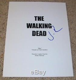 JON BERNTHAL SIGNED THE WALKING DEAD 61 PAGE FULL PILOT SCRIPT withPROOF AUTOGRAPH