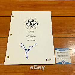 JUSTIN BALDONI SIGNED JANE THE VIRGIN FULL PAGE PILOT SCRIPT with BECKETT COA