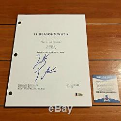 JUSTIN PRENTICE SIGNED 13 REASONS WHY FULL 59 PAGE PILOT SCRIPT with BECKETT COA