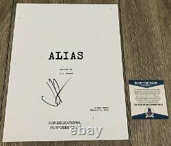 J. J. ABRAMS SIGNED AUTOGRAPH ALIAS 72 PAGE PILOT SCRIPT withPROOF BECKETT BAS COA