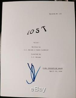 J. J. Abrams Signed Autograph Lost Rare 70 Page Pilot Episode Script With Coa