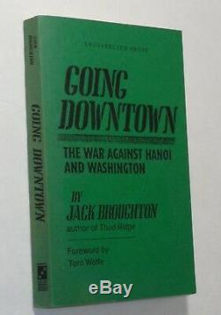 Jack Broughton Going Downtown Vietnam War SIGNED Association Copy Combat Pilots
