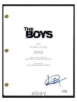 Jack Quaid Signed Autographed THE BOYS Pilot Episode Script ACOA COA