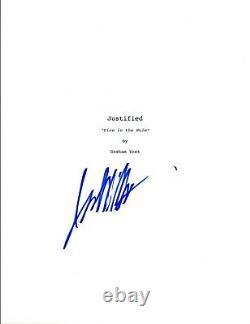 Jacob Pitts Signed Autographed JUSTIFIED Pilot Episode Script COA VD