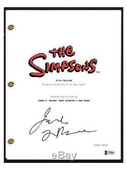 James L. Brooks Signed Autograph THE SIMPSONS Pilot Episode Script Beckett COA