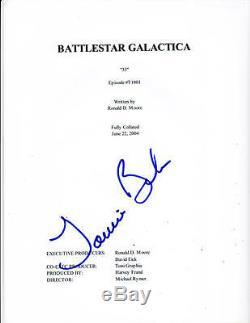 Jamie Bamber Signed Battlestar Galactica Pilot Script Full 55 Page Autograph Coa