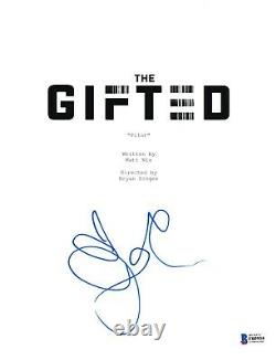 Jamie Chung Signed The Gifted Pilot Script Cover Beckett Bas Autograph Auto