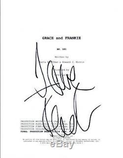 Jane Fonda Signed Autographed GRACE AND FRANKIE Full Pilot Episode Script COA AB