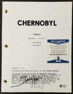 Jared Harris signed Chernobyl Pilot TV Script Autograph (A) Beckett BAS COA