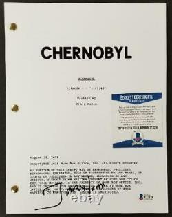 Jared Harris signed Chernobyl Pilot TV Script Autograph (B) Beckett BAS COA