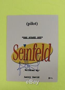 Jason Alexander Signed Autograph SEINFELD Pilot Script Cover Beckett COA