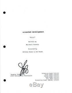 Jason Bateman Signed Autographed ARRESTED DEVELOPMENT Pilot Episode Script COA