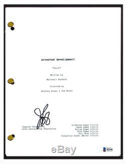 Jason Bateman Signed Autographed ARRESTED DEVELOPMENT Pilot Script Beckett COA