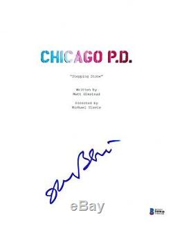 Jason Beghe Signed Chicago Pd P. D. Pilot Script Cover Beckett Bas Autograph Auto